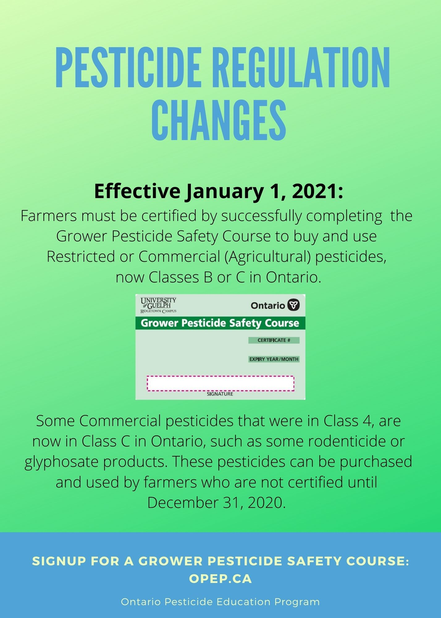 poster of Pesticde Regulation Changes